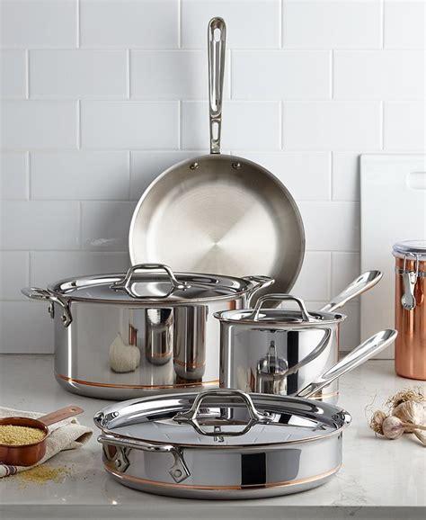 clad copper core  piece cookware set reviews cookware sets macys