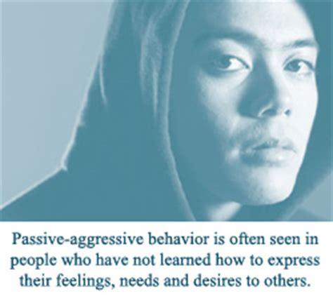 section ii mental health topics passive aggressive
