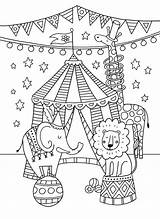 Circus Pages Colouring Coloring Theme Crafts Greatest Showman Carnival Preschool Activities Printable Classroom Clown Animal Themes Decorations Advocate Card Birthday sketch template