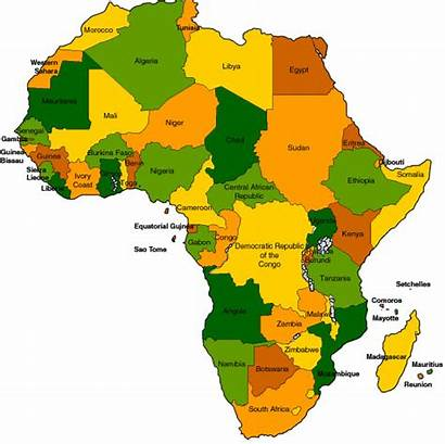 Africa Clipart Map Clip Filled