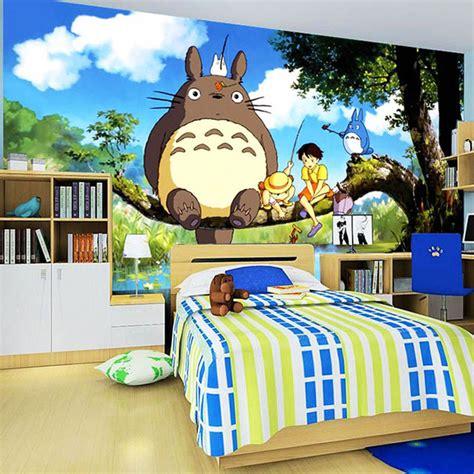 Anime Mural Wallpaper - japanese anime totoro wall mural silk wallpaper