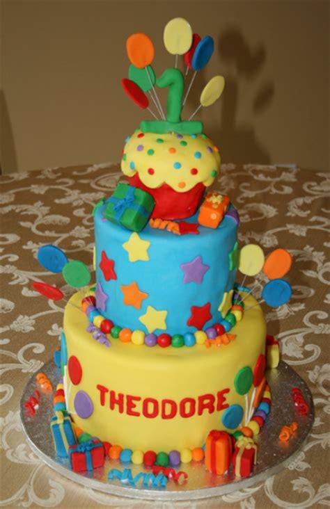 beautiful big  birthday cake  balloons  gifts