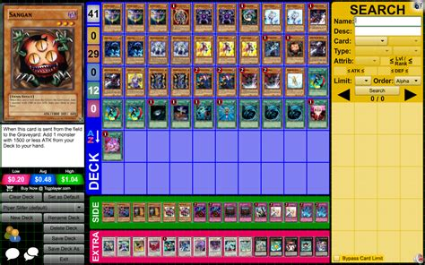 Mill Deck Yugioh 2011 by Piper Slifer Pojo Forums
