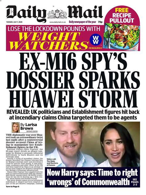 Front Pages 7th of July 2020 - Tomorrow's Papers Today!