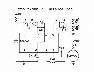 How To Build A Simple Analog Balancing Robot With A 555 Timer Chip And A Modified Servo  Also