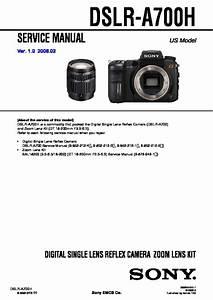Sony Dslr-a700h Service Manual