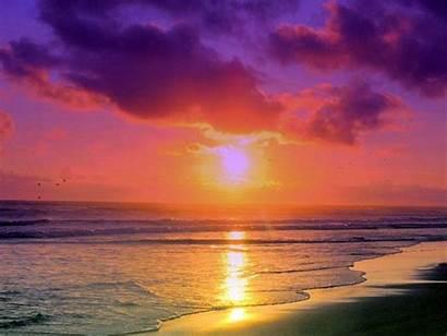 Beach Florida Miami South Beaches Sunset Desktop