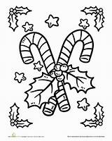 Candy Cane Coloring Worksheet Holiday Canes Preschool Education Worksheets Holidays sketch template