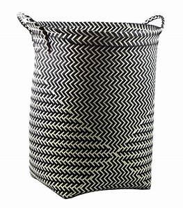 Panier A Linge Blanc : grand panier linge en polypropyl ne noir et blanc ~ Teatrodelosmanantiales.com Idées de Décoration
