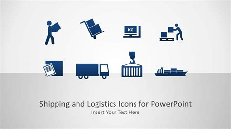 shipping  logistics icons powerpoint