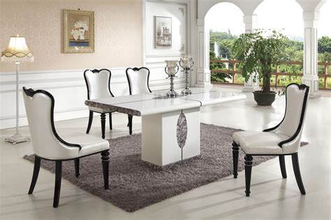 ipoh marble dining table   chairs marble king