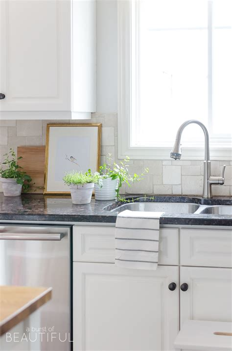 Modern Farmhouse Bathroom Faucet Easy Kitchen Upgrade Our New Kitchen Faucet A Burst Of