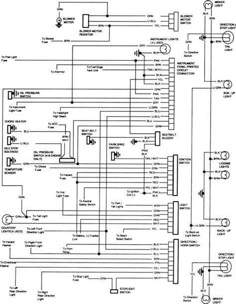 1981 Gmc Fuse Box Diagram by 1981 Chevy C10 Fuse Diagram Technical Diagrams