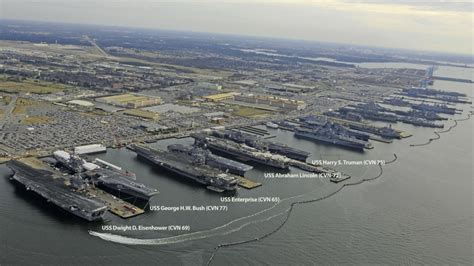 five nuclear carriers in harbor