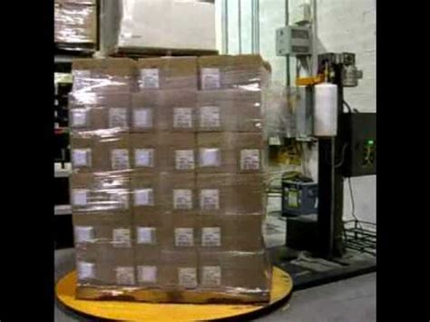 semi automatic pallet wrapper pallet wrapping machine youtube