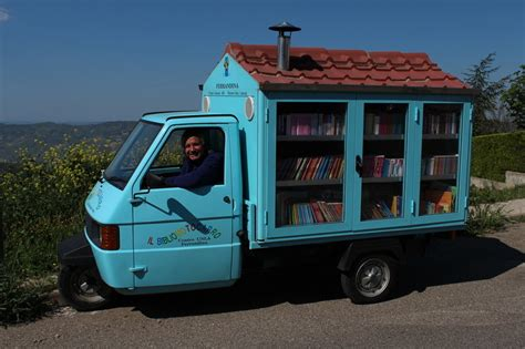 3 Mobile Italy by Book Patrol 3 Wheel Mobile Library In Rural Italy