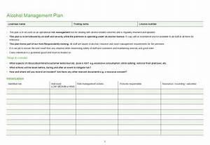 Alcohol management plan template alcoholorgnz for Alcohol management plan template