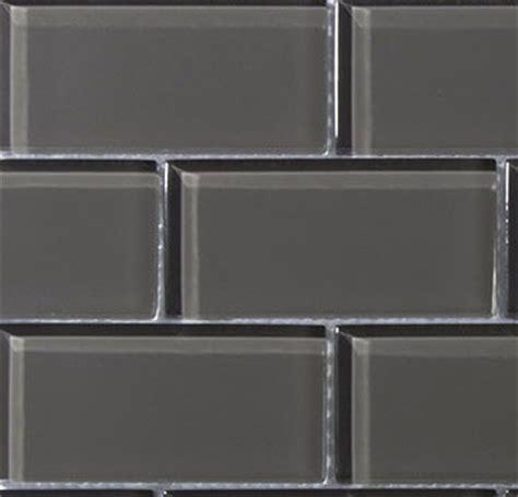 sle 6x6 quot charcoal gray glass 2x4 mosaic subway tile