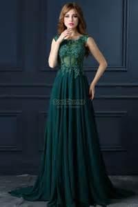 decoration mariage pas cher robe de soirée longue verte pas cher en mousseline décolleté rond corset transparent à broderie