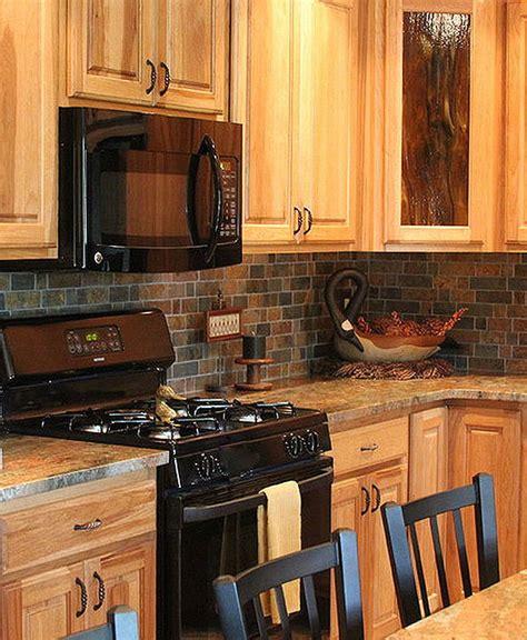 free kitchen cabinets brown slate mosaic backsplash tile for traditional 1063