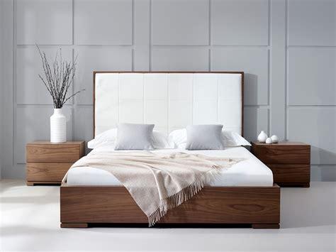 modern headboard walnut bed living it up Modern Headboard