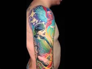 Santana psychedelic tattoo sleeve - YouTube
