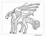 Wings Fire Coloring Silkwing Library Clipart Sunny Clip Seawing Inspirations Dragons Lineart Campfire Tremendous Template Popular sketch template