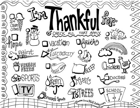 6 Best Images Of I Am Thankful For Placemat Printable