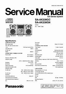 Panasonic Sa Ak230 Service Manual Download  Schematics  Eeprom  Repair Info For Electronics Experts