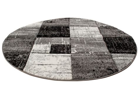 round rugs london square black
