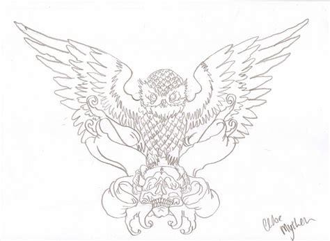 Owl Tattoo Outline Designs