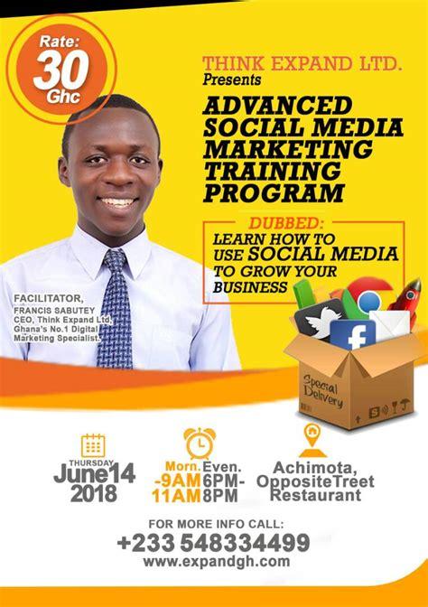 social media marketing certificate programs advanced social media marketing program think
