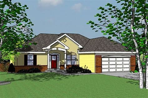 Traditional Style House Plan 3 Beds 2 Baths 1555 Sq/Ft