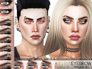 Diy Eyebrow Piercing Set By Pralinesims At Tsr  U00bb Sims 4