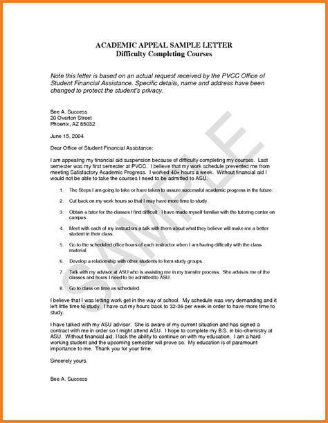 Appealing Resume Sle by Sap Appeal Letter 9 Sap Appeal Letter Sle Academic