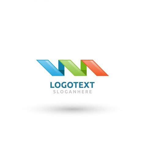 colors ribbon logo vector free download