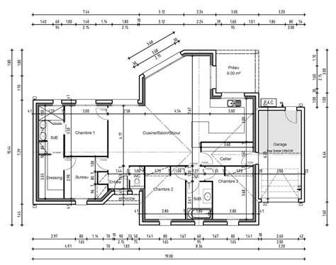 plan maison 3 chambres 1 bureau plan maison 3 chambres 1 bureau vente de plan de maison