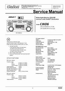 Clarion Cmd6 Service Manual Download  Schematics  Eeprom