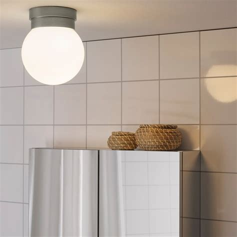 frihult ceilingwall lamp stainless steel color ikea