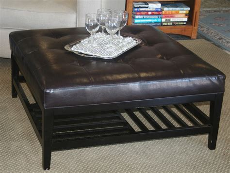 tufted ottoman with shelf fascinating leather ottoman coffee table with storage