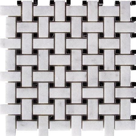 basket weave white carrara with black dot honed procidatile 631 242 2571