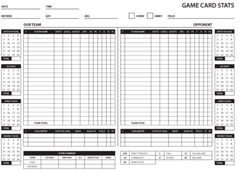 soccer stat sheet