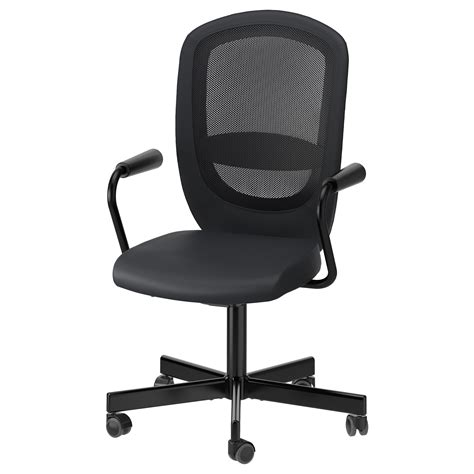 swivel office chair ikea flintan nominell swivel chair with armrests black ikea