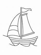 Sailboat Coloring Outline Boat Drawings Printable Barco Fralda Desenho Ausmalbilder Segelboot Bebe Drawing Transporte Meios Riscos Result Ausdrucken Malvorlagen Kostenlos sketch template