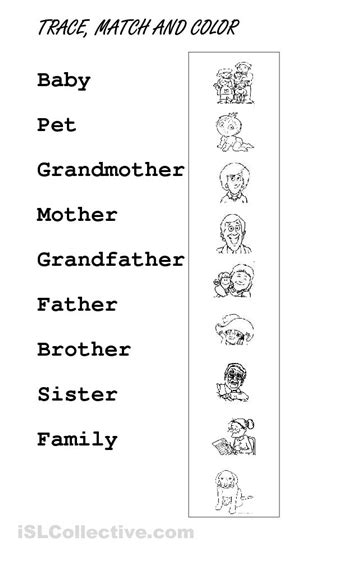 11 best images of meet my family worksheet my family