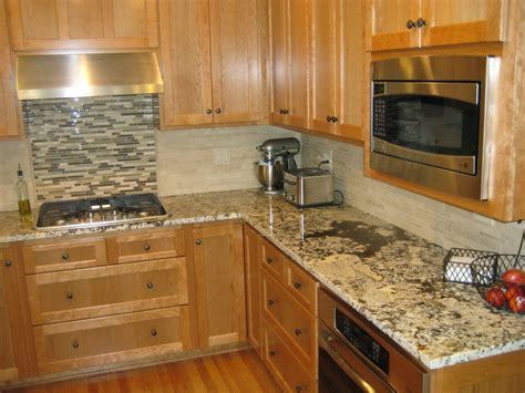 granite countertops and tile backsplash ideas home