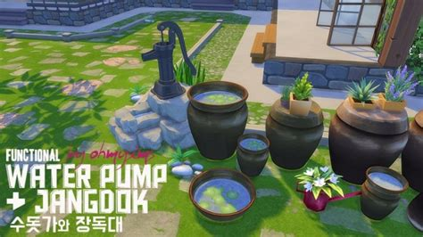 functional fountain water pump    sims  sims