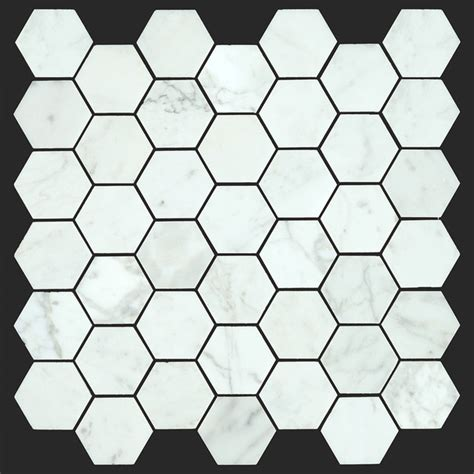 honeycomb tile flooring bianco carrara white marble carrera 2 inch honeycomb mosaic modern wall and floor tile