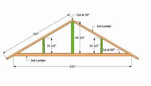 carport trusses plans cabin buildings pinterest With 16 ft trusses