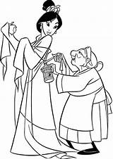 Coloring Pages Mulan Popular sketch template